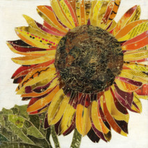 "Randy Purcell ""Sunflower"" on wood"