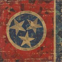 "Randy Purcell ""Tennessee Flag"" on wood"