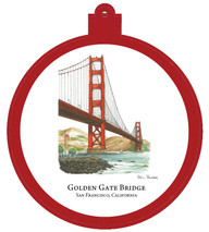 Golden Gate Bridge - San Fransisco, California Ornament