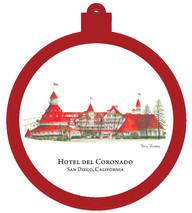 Hotel del Coronado - San Diego, California Ornament