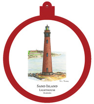 Lighthouse - Sand Island - Alabama Ornament
