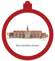 West End High School Ornament