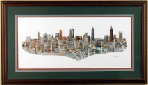 Atlanta - 1992 (Original) framed