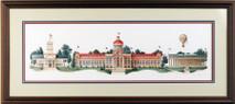Centennial - 1989 (Original) framed