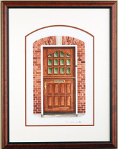 Doors of Holland 1 - 2003 (Original) framed