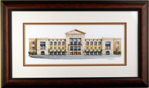 Nashville Public Library - 2003 (Original) framed