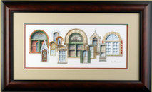 Nashville Windows - 2005 (Original) framed