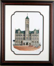 Union Station 1914 - 1998 (Original) framed