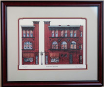 Silver Dollar Saloon (SOLD OUT PRINT) framed