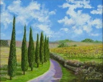 """Inslee, George - """"Tuscany II"""" unframed"""