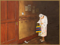 """Inslee, George - """"The Letter"""" unframed"""