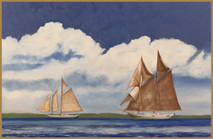 "Inslee, George - ""Two Schooners"" unframed"