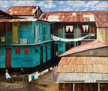 "Inslee, George - ""Colonial Panama"" unframed"