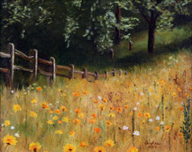 "Inslee, George - ""Field of Gold"" unframed"