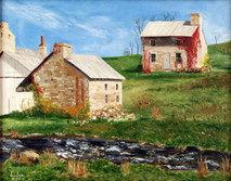 "Inslee, George - ""Webster Mills, PA"" unframed"