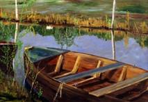 "Inslee, George - ""On the Marsh (detail)"" unframed"