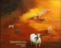 "Inslee, George - ""My Sheep"" unframed"
