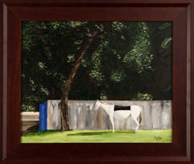 "Inslee, George - ""At Ease in the Afternoon"" framed"