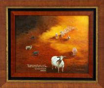 "Inslee, George - ""My Sheep"" framed"
