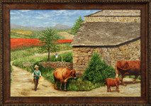 "Inslee, George - ""Changing Pastures"" framed"