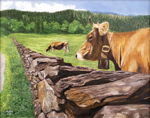 "Inslee, George - ""Brown Swiss"" unframed"