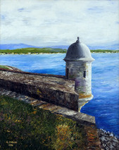 "Inslee, George - ""El Morro Sentry Box I"" unframed"
