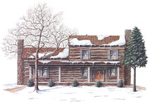 Buchanan Log Home Winter