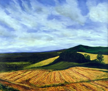"Inslee, George - ""Up on the Downs"" unframed"