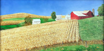 "Inslee, George - ""Waiting for Harvest"" unframed"
