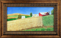 "Inslee, George - ""Waiting for Harvest"" framed"
