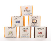 Jonathan Kent Goats Milk Soap Bars (6 Pack Sampler) - Country Breeze: Patchouli & Lavender, Lemongrass Herb, Floral Plumeria, Lavender Chamomile, White Lily, Yellow Rose.