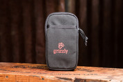 Grizzly HURON Cell Phone Case (Black) with Two Zippered Pockets