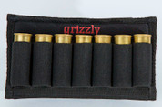 The Laramie holds 7 shotgun shells, 12, 16, 20 gauge