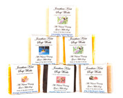 Jonathan Kent Goats Milk Soap Bars (6 Pack Sampler) - Sweet Meadows: Fig/Pomegranate Brown Sugar, Lavender Lemongrass, Sweet Morning Rose, Lavender Chamomile, White Lily, Sweet Jasmine