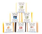 Jonathan Kent Goats Milk Soap Bars (6 Pack Sampler) - Sweet Meadows: Fig/Pomegranate Brown Sugar, Lavender Lemongrass, Sweet Morning Rose, Lavender Chamomile, White Lily, Sweet Jasmine