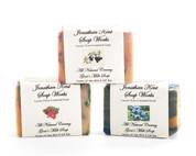 Jonathan Kent Goats Milk Soap (3 Bar Sampler) - Wild Fruit: Wild Black Raspberry, Vanilla and Wild Blueberry, Wild Currant Orange