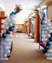 Spiral Column with mylar balloons