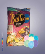Bag of Assorted Balloons (Pastel Colors)