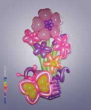 Pink Butterfly Garden Bouquet