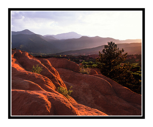 Pikes Peak over Garden of the Gods in Colorado Springs, Colorado 316