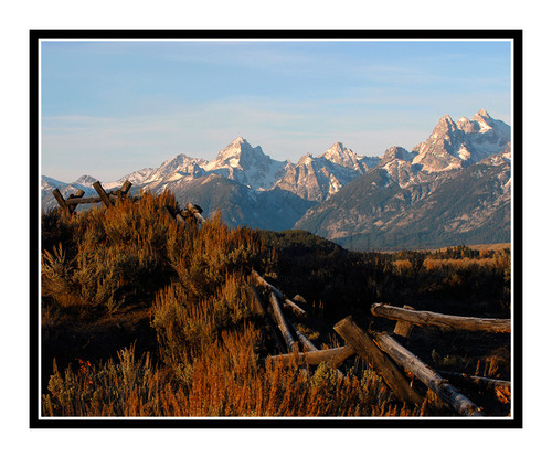 Grand Tetons with Fence in Wyoming 1082