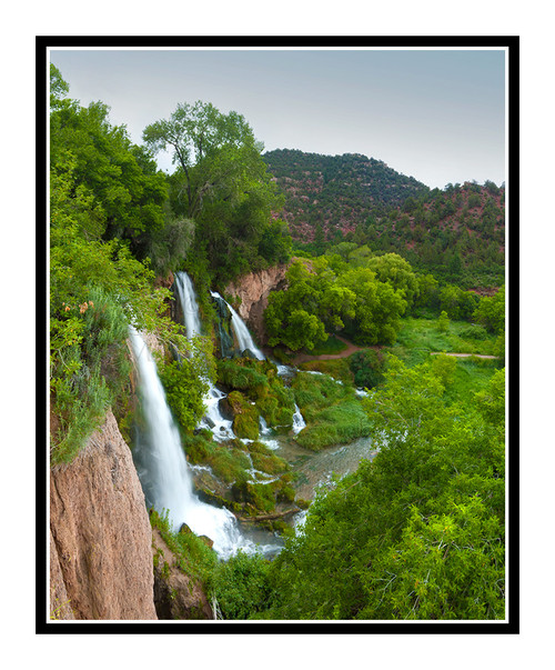 Rifle Falls in Summer in Rifle Falls State Park, Colorado 2258