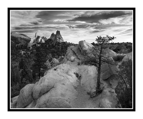 South Face of Garden of the Gods in Colorado Springs, Colorado 2036 B&W