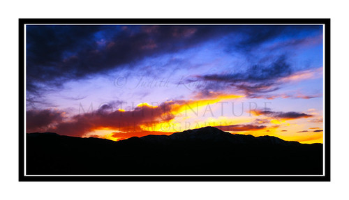 Sunset over Pikes Peak in Colorado Springs, Colorado 53