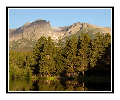 Mountains over Sprague Lake in Rocky Mountain National Park, Colorado 1567