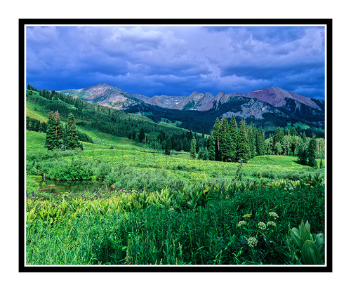 Stormy Mountain Scape outside of Crested Butte, Colorado 776
