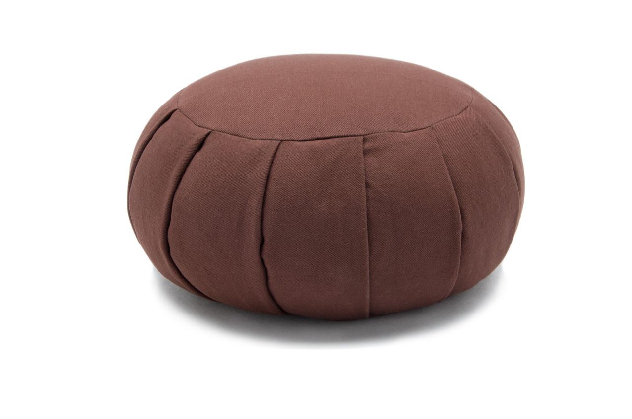 Chocolate - Buckwheat Hull Or Kapok Zafu Meditation Cushion