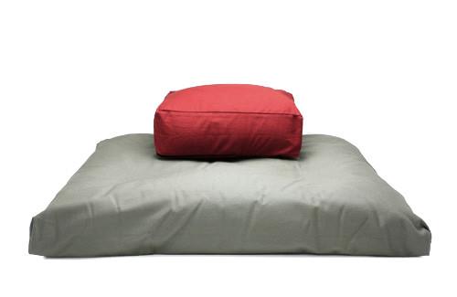 Kapok Rectangular Cushion and Zabuton Meditation Cushion Set