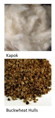 Kapok versus Buckwheat Hulls