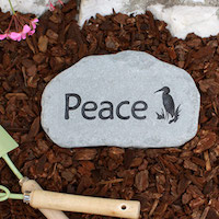 Small Custom Garden Stone
